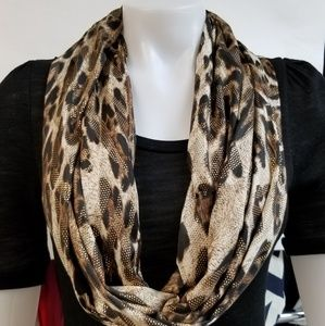 Leopard Single Loop Scarf
